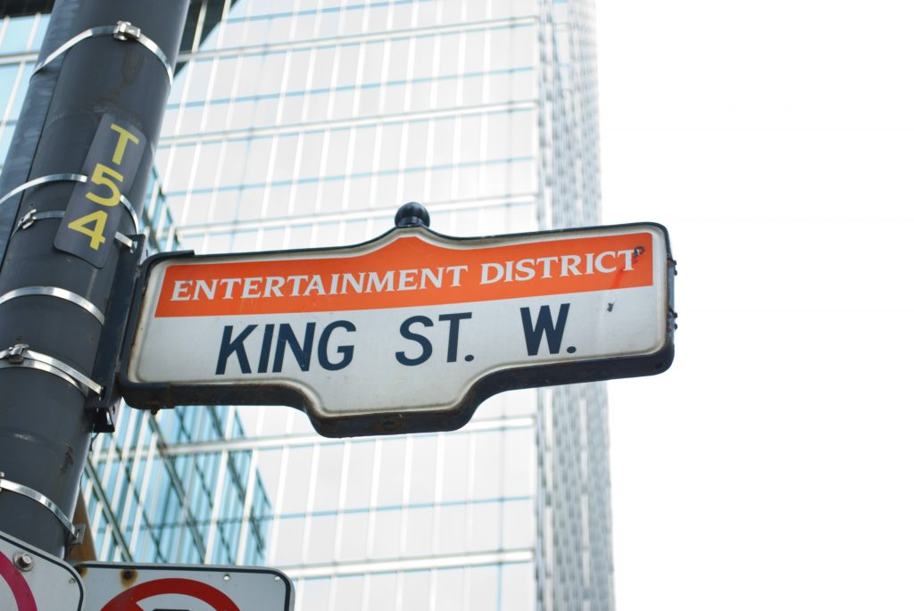 Toronto Entertainment District sign, GoRoamin travel blog