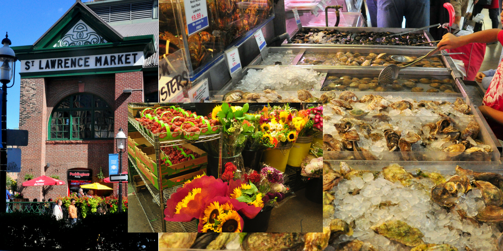 Toronto St. Lawrence Market collage, GoRoamin travel blog