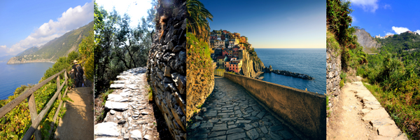 Cinque Terra Trail Collage, GoRoamin Travel Blog