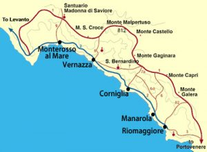 Cinque Terre National Park, Italy, Trail Map. GoRoamin Travel Blog