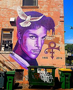 Prince, Minneapolis street art. GoRoamin Travel Blog