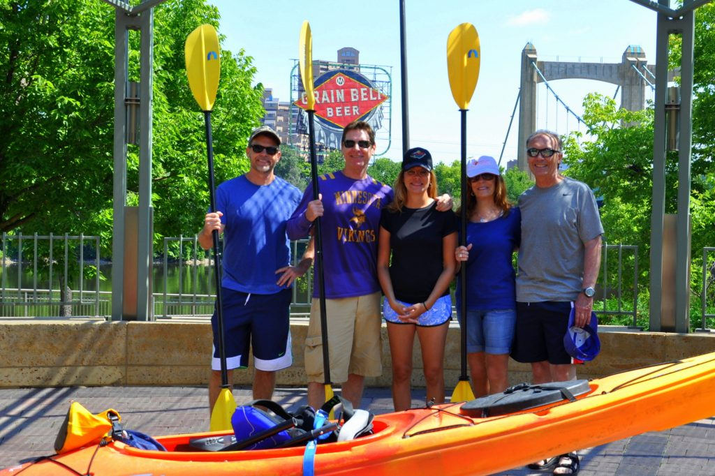 Kyaking on the Mississippi River, Minneapolis, MN. GoRoamin Travel Blog