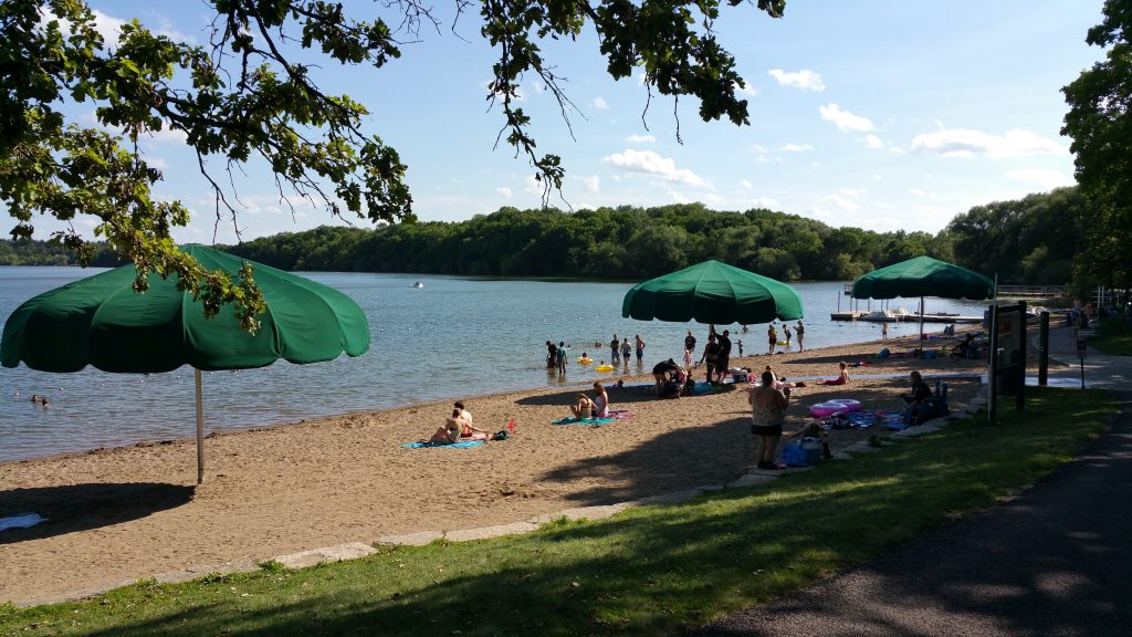 Minneapolis, MN Beach at Lake Harriet. GoRoamin Travel Blog